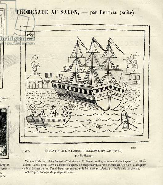 Le Journal Fun, 1868_6_6 - Illustration by Bertall (1820-1882): The ship of the Dutch estaminet - Maritime Marine Nautique Balneaire, Cartoons - Monet Claude