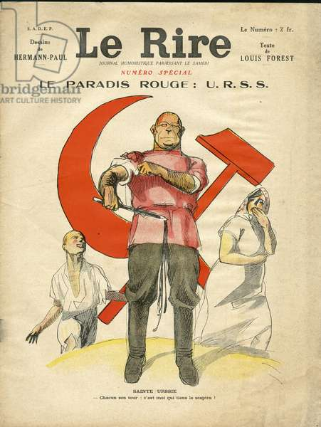 Illustration of Hermann-Paul (1864-1940) for the Cover of Le Lire, circa 1935 - Red Paradise USSR - USSR, Anticommunism, Sickle and Hammer