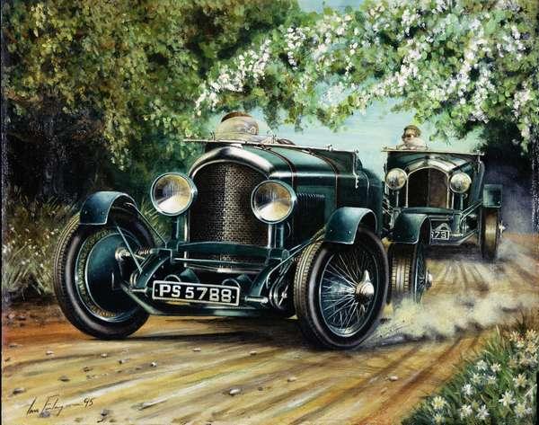 Duelling Bentleys, 1995 (acrylic on canvas)