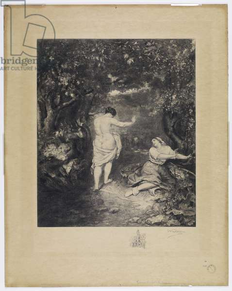 Les Baigneuses, engraved by Charles Waltner (1846-1925) (etching)