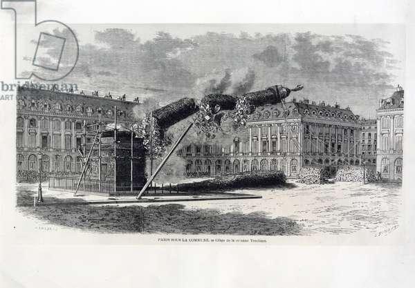 The fall of the Vendome column (19th century)