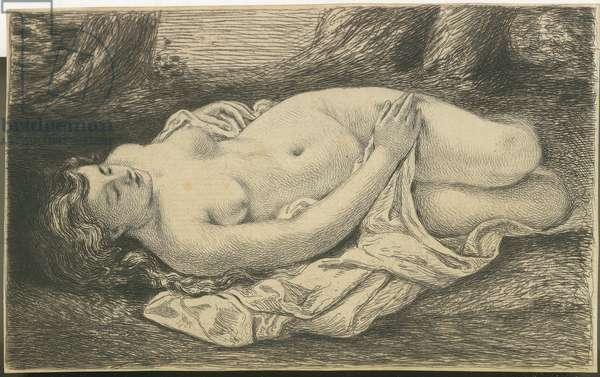 Sleeking woman (19th century)