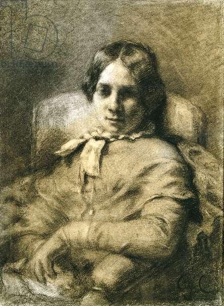 Portrait of Zelie Courbet (1853)