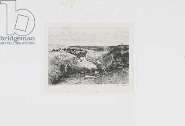 The Chateau d'Ornans. La Fontaine aux viperes (19th century)