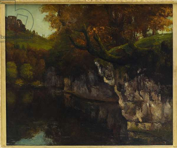 La Loue a Scey in Varais (circa 1860)