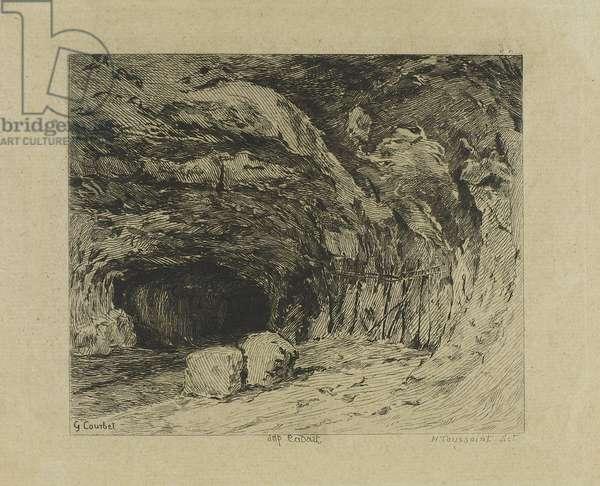 The Saracen cave near Nans sous Sainte Anne (19th century)