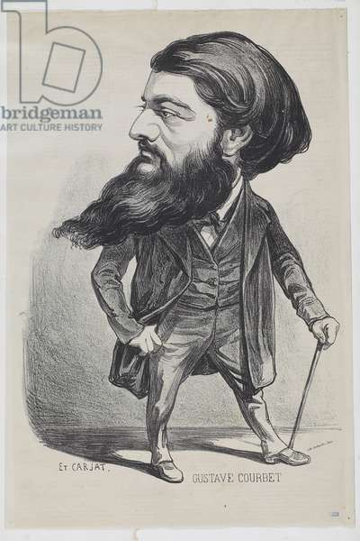 Cartoon by Gustave Courbet (19th century)