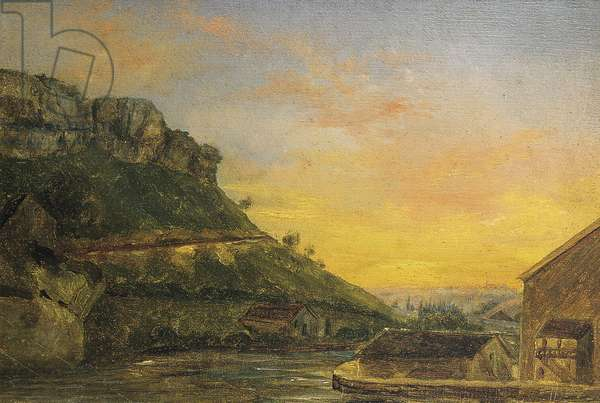 The Loue in Ornans (1838)