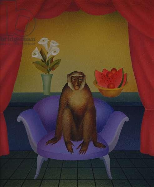 Monkey on Purple Setee