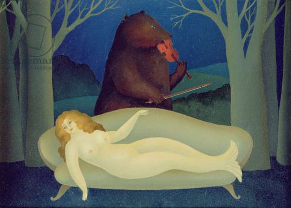 Serenade  (Bear with Nude on Couch)