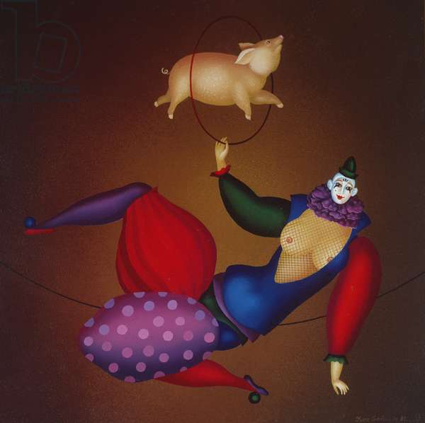 Clown With Pig