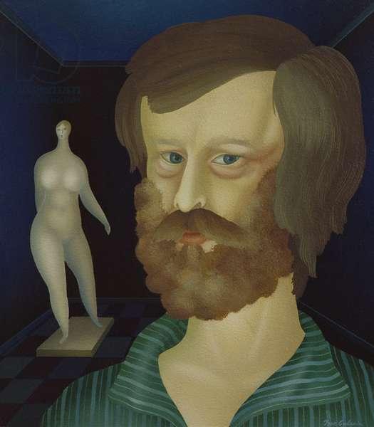 Self Portrait with sculpture
