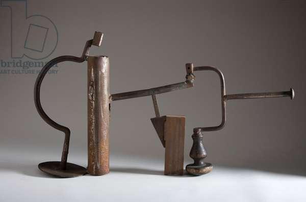 Writing Piece - Hand, 1978 (wood & steel, varnsihed)