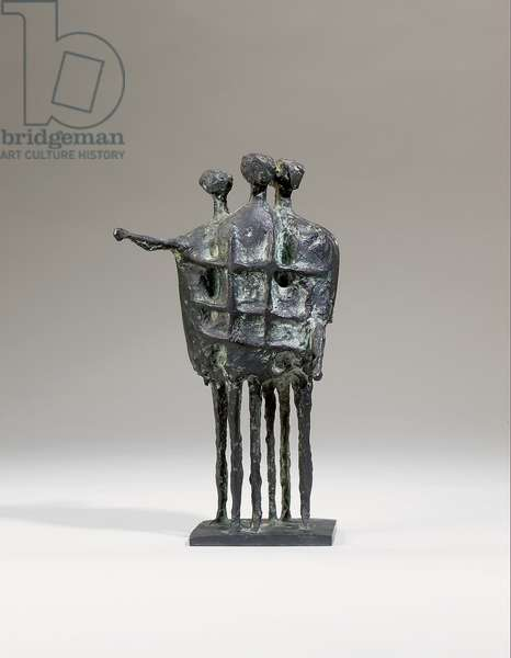 Model for the Krefeld Monument No. 2, 1956 (bronze with a black patina)