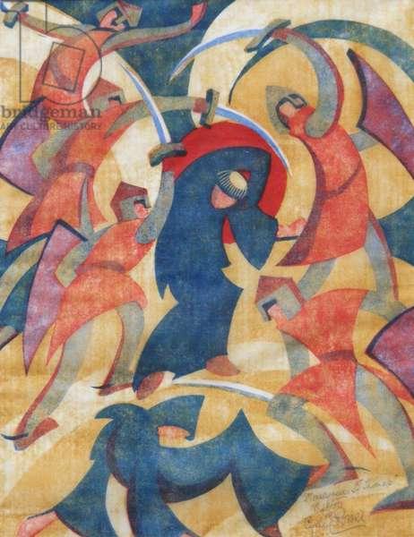 Monseigneur St. Thomas, 1931 (linocut)
