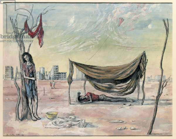 The Kite, 1940 (pen & gouache on paper)
