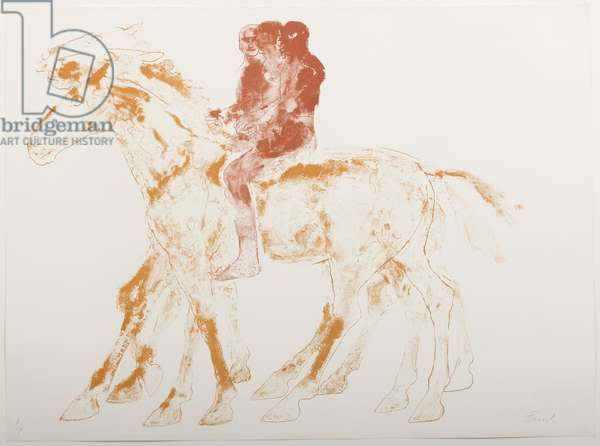 The Three Riders, 1974 (litho in three colours)