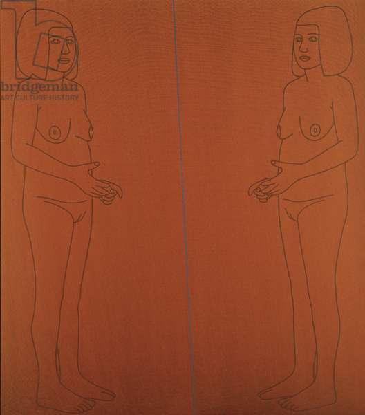 The Mirror, 1974-75 (acrylic on canvas)