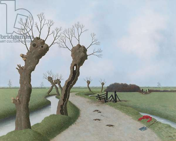 Glastonbury Fen, 1980 (oil on board)