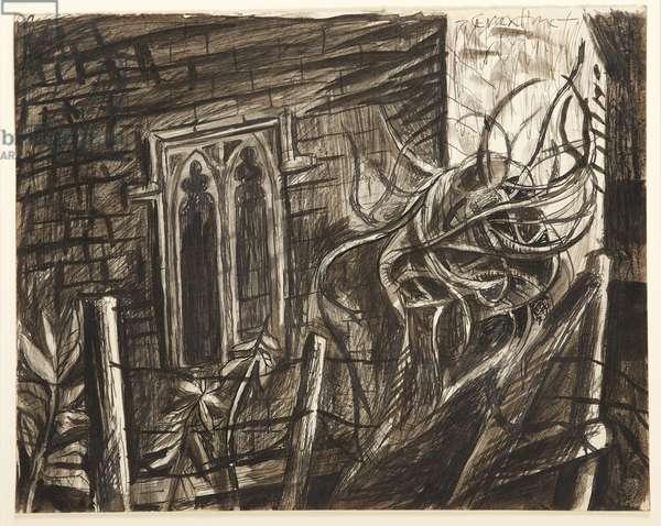 Knowlton Church, 1941 (pen & ink wash)