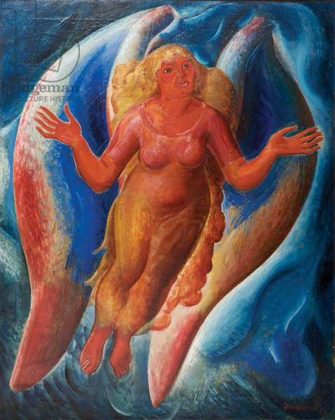 Host of the 4th Dimension (Red Angel), 1927 (oil on canvas)