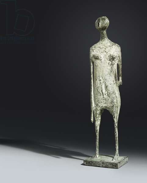 Standing Figure, 1955 (bronze with green & white patina)