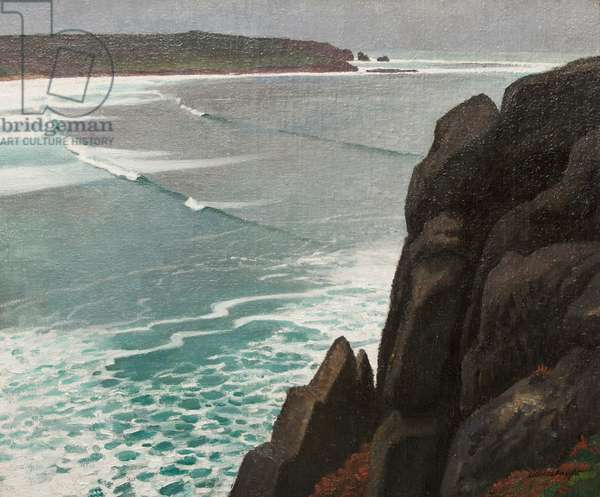Rocks and Sea, 1923 (oil on canvas)