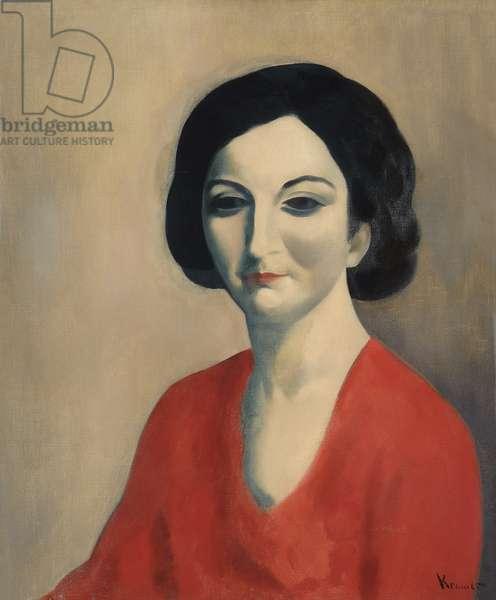 Portrait of Sarah, c.1920s (oil on canvas)