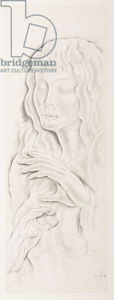 The Angel (Blind Girl), 1939 (pencil on paper)