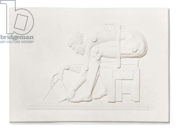 British Library, Newton (After Blake), 1995 (plaster relief)