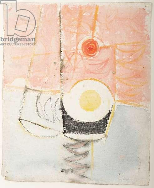 Sun, Sea and Boats, 1952 (w/c & gouache on paper)