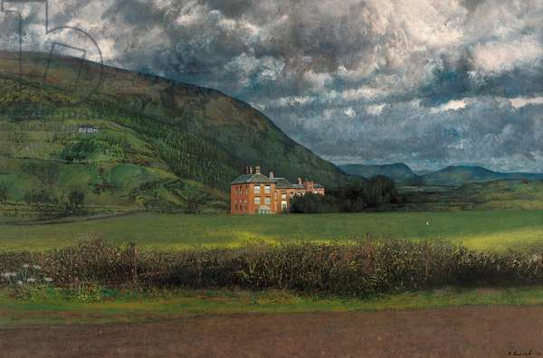 Stormy morning, mid-Wales, 1969 (oil on canvas)