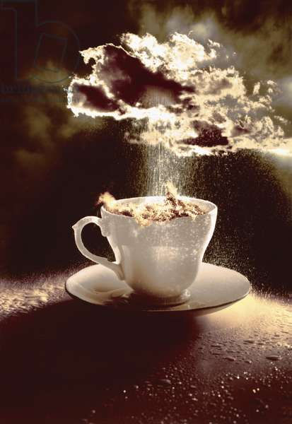 Storm in a Teacup, 1987 (digitally colourised photo)