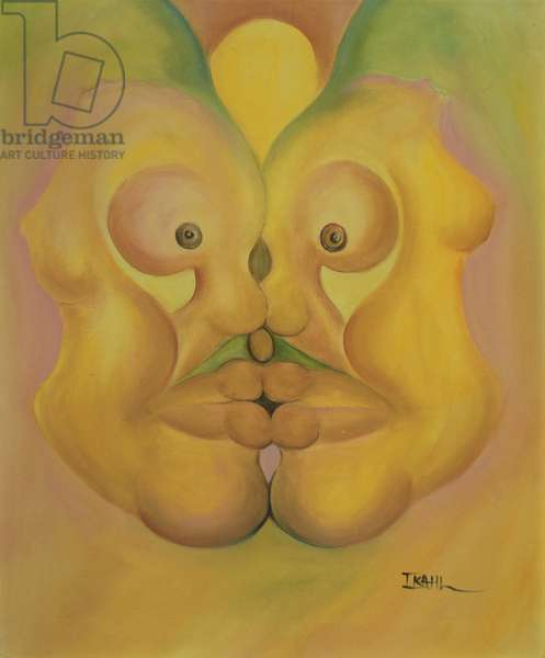 The Kiss (oil on canvas)