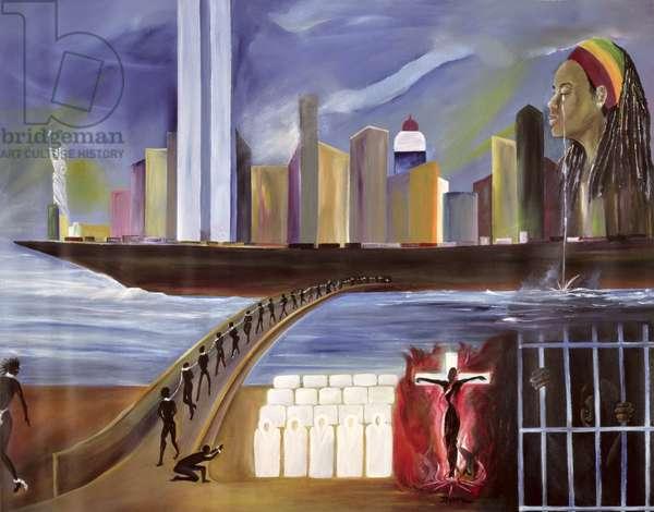 River of Babylon (oil on canvas)