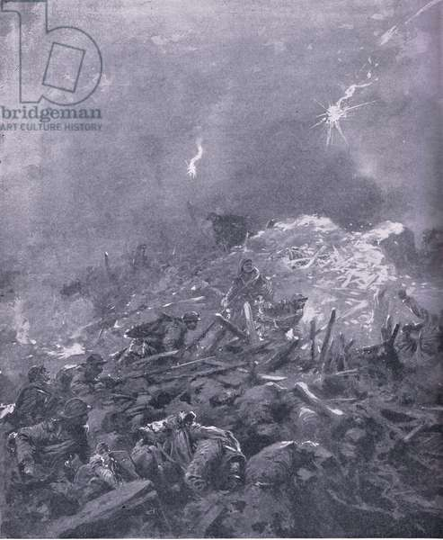 Immortal 'Dead Man Hill', whre the German hosts battered themselves unavailaingly against the heroes of France (colour litho)