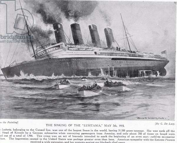 The sinking of the Lusitania 7 May 1915