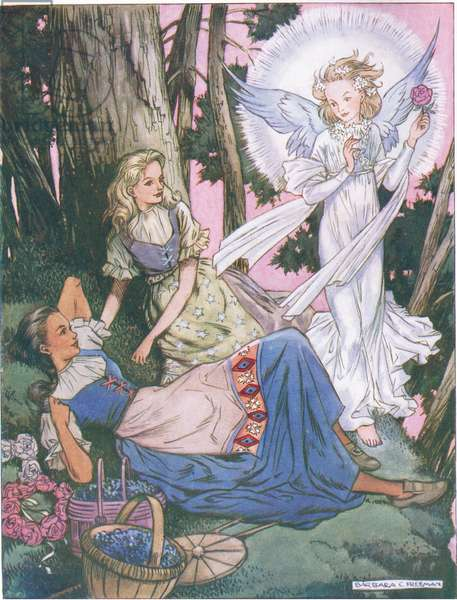 Their guardian angel  (colour litho)