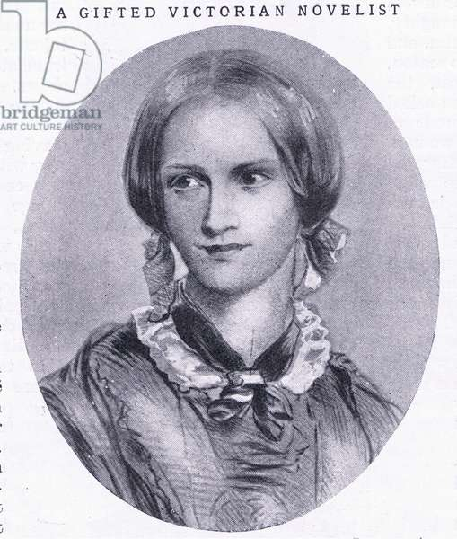 Portrait of Charlotte Bronte, illustration from'Cassell's Romance of Famous Lives', c.1940 (litho)