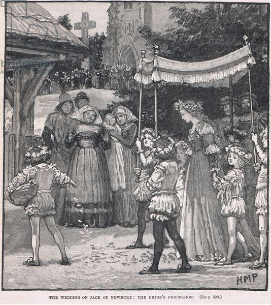 The wedding of Jack of Newbury: the bride's procession
