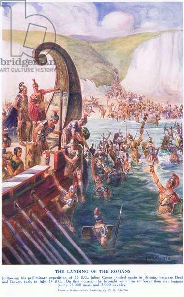 The Romans arriving in Britain