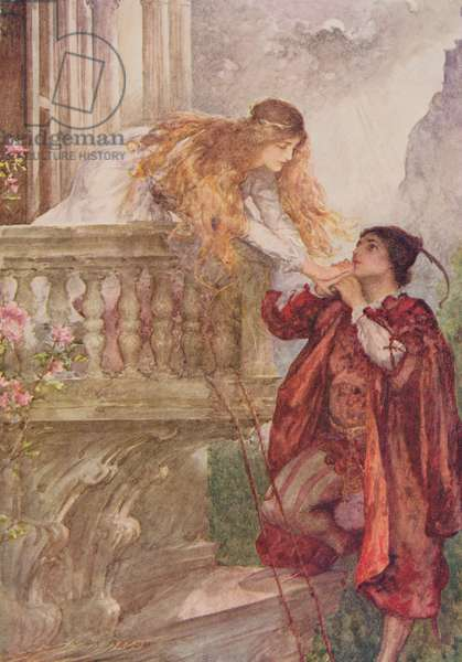 Romeo and Juliet from 'Children's Stories from Shakespeare' by Edith Nesbit (1858-1924) pub. by Raphael Tuck & Sons Ltd., London (book illustration)