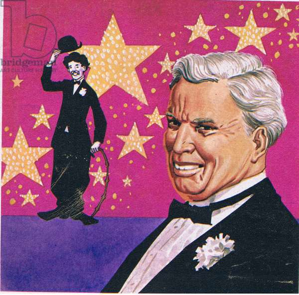 Charlie Chaplin, from Once Upon a Time Magazine, 1960-70 (litho)