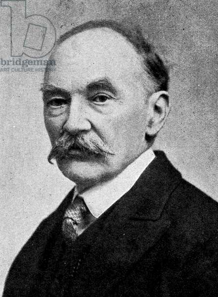 Thomas Hardy, from 'Newnes' Pictorial Book of Knowledge' (litho)
