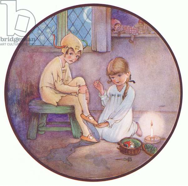 This hurt a bit, illustration from'J M Barrie's Peter Pan and Wendy', 1951 (colour litho)