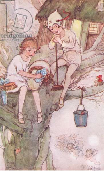 Wendy grew up, illustration from'J M Barrie's Peter Pan and Wendy', 1951 (colour litho)