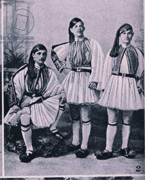 Men of the Evzone (Highland Regiment of Greece) (litho)