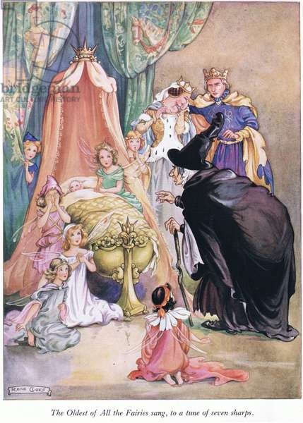 The oldest of the fairies sang, to a tune of seven sharps (colour litho)