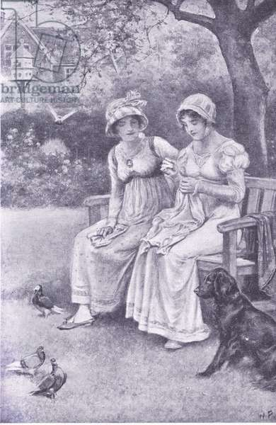 Jane Austen and the sister she loved (litho)