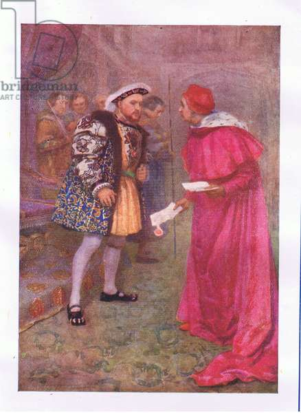 """Read o'er this….an dthen to brekfast with what appetite you have"" (King Henry VIII), from The Complete Works of Shakespeare published by George Harrap & Co Ltd, 1920's (colour litho)"